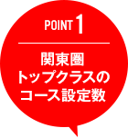 POINT1 関東圏トップクラスのコース設定数